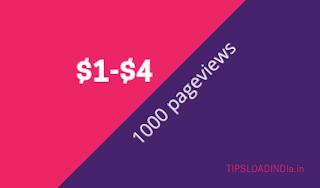 Google AdSense, Google AdSense pay for thousand pageviews