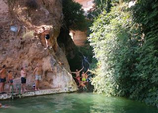 El charco de Las Canales, Letur, Albacete.