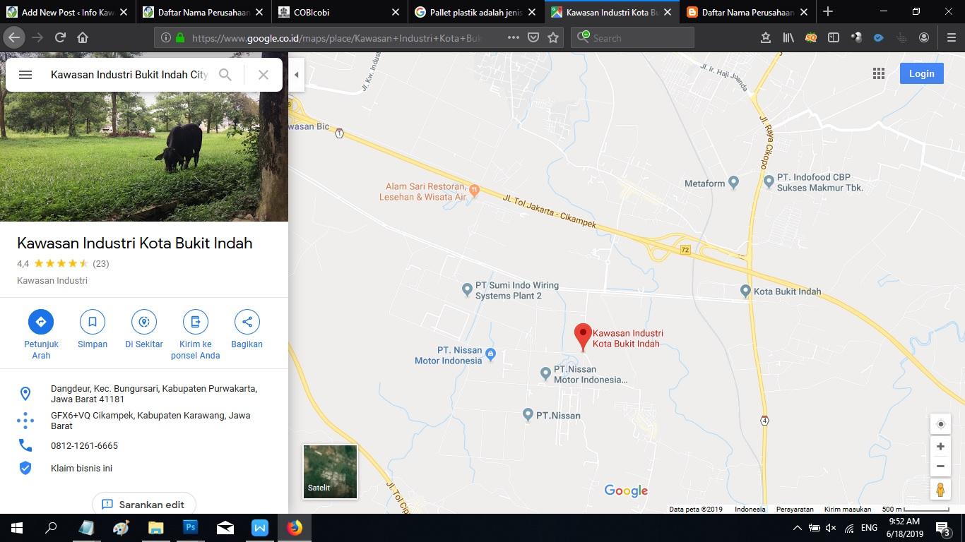 Daftar PT, Perusahaan Kawasan Industri Bukit Indah City (BIC) Purwakarta