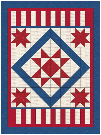 Show Your Stars Quilt Free Pattern designed and written by Lisa Sutherland of Quilt Jubilee