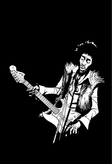 Jimi Hendrix Requiem Electrique aux éditions Graph Zeppelin page 109
