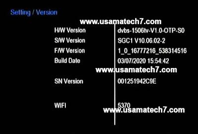 1506TV SGC1 4MB Receiver New Software