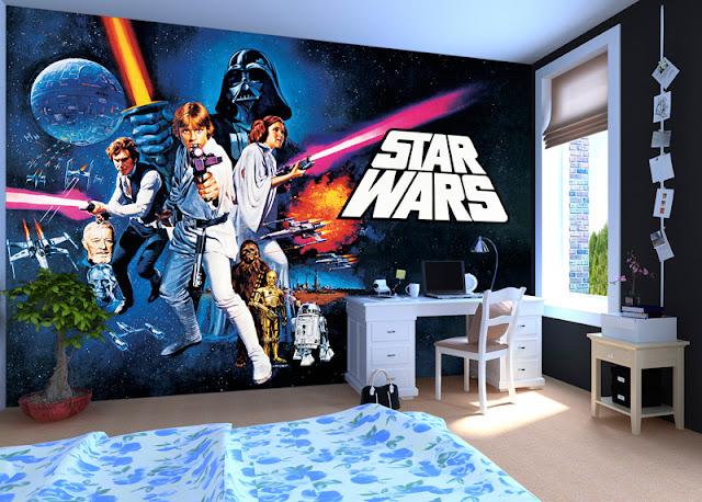 Star Wars Tapetti Valokuvatapetti Poika Huone Poikien Tapetti
