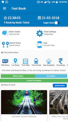fast tatkal ticket booking on mobile, free, best railway ticket booking app, fast book tatkal irctc free,
