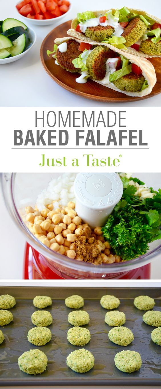 Crispy Homemade Baked Falafel
