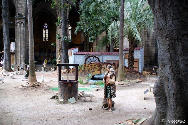 Presepe nel chiostro della cattedrale de la Seu