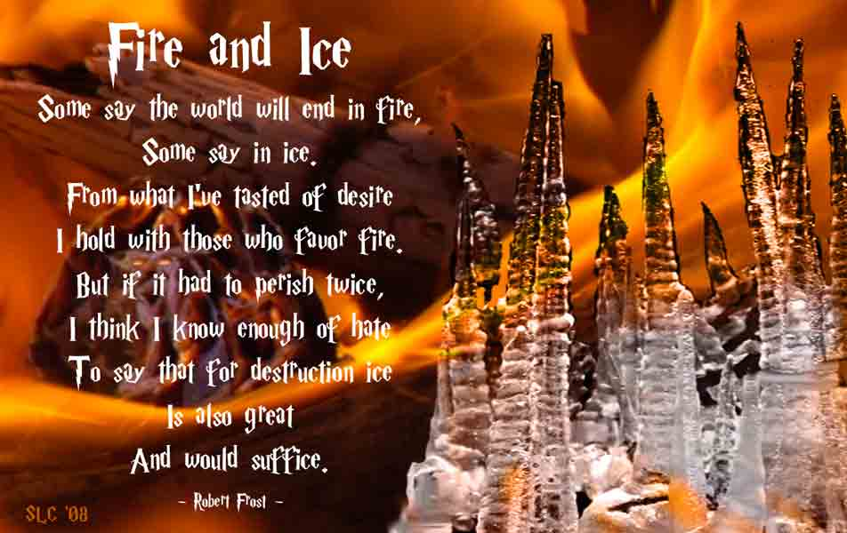 robert frost fire and ice in verse