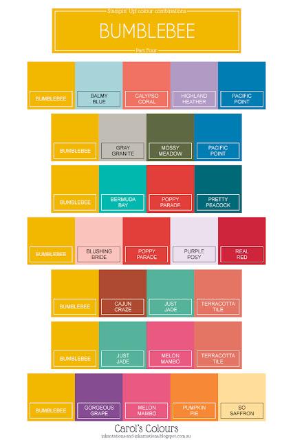 Bumblebee colour combinations graphic Part Four