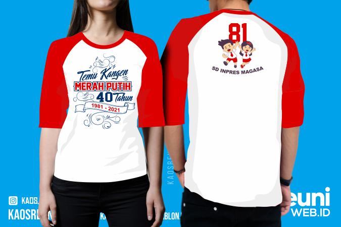Sablon Kaos Reuni Merah Putih ALumni SD 40 Tahun (1)