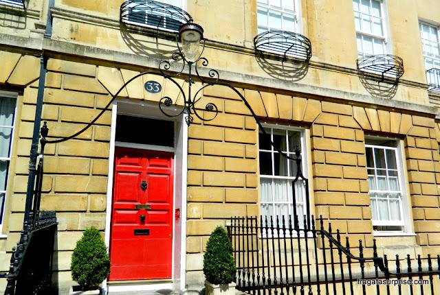 Fachada em estilo georgiano em Bath, Inglaterra