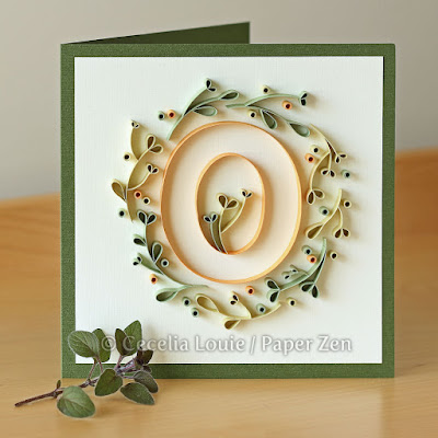 Quilling letter O tutorial