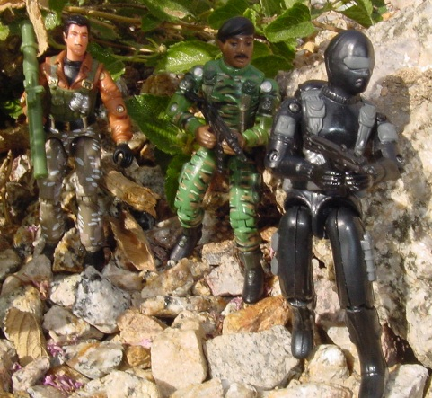 1997 Stalker, Toys R Us Exclusive Stars & Stripes Set, 2007 Convention Zap, Snake Eyes