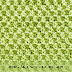 Reversible knitting // Double Moss Stitch. Basic knit purl stitch pattern.