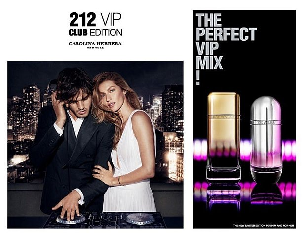 Reklama perfum Carolina Herrera 212 Vip Club Edition