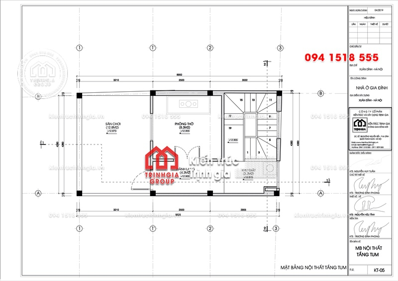 Thiết kế nhà phố 50m2 đẹp 4 tầng 1 tum phong cách hiện đại