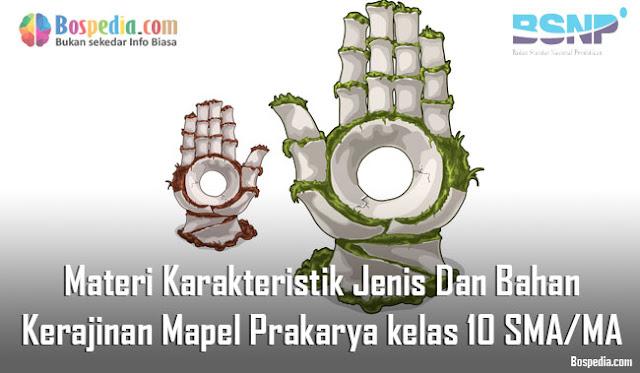 Materi Karakteristik Jenis Dan Bahan Kerajinan Mapel Prakarya kelas 10 SMA/MA