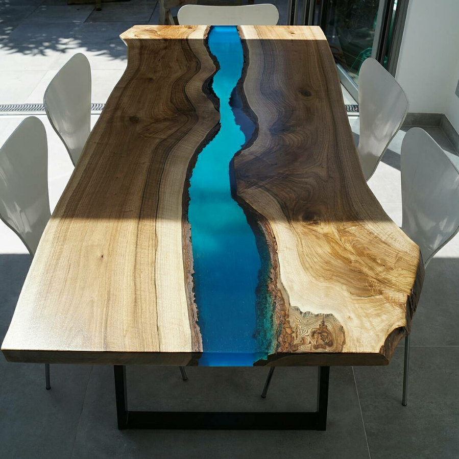 50 Epoxy River Table Designs For Unusual Interior