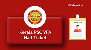 Kerala PSC Village Field Assistant Hall Ticket