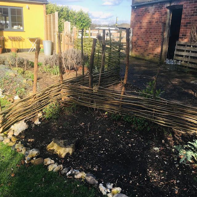 willow fencing garden
