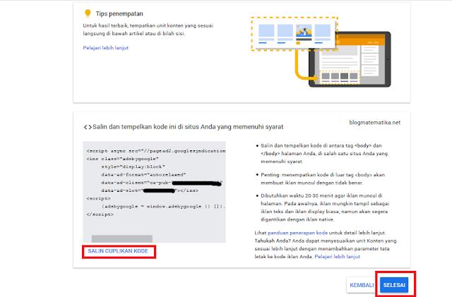 Bagaimana Cara Menyisipkan Iklan Matched Content di Bawah Artikel Terkait di Template Viomagz
