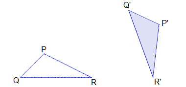 Example 3: Question: If ΔP'Q'R' be the image of the ΔPQR under the rotaion, find the centre and the angle of rotation.