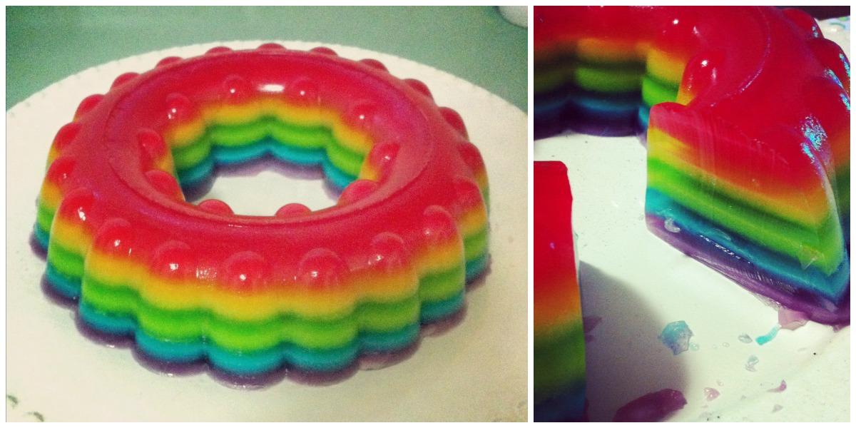 Jelly Cake Recipe Uk: Giggleberry Creations!: Rainbow Jelly Cake