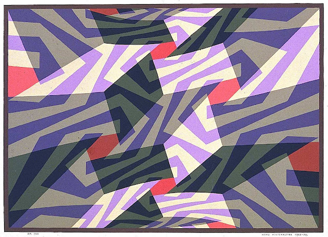 a Hans Hinterreiter print in purple