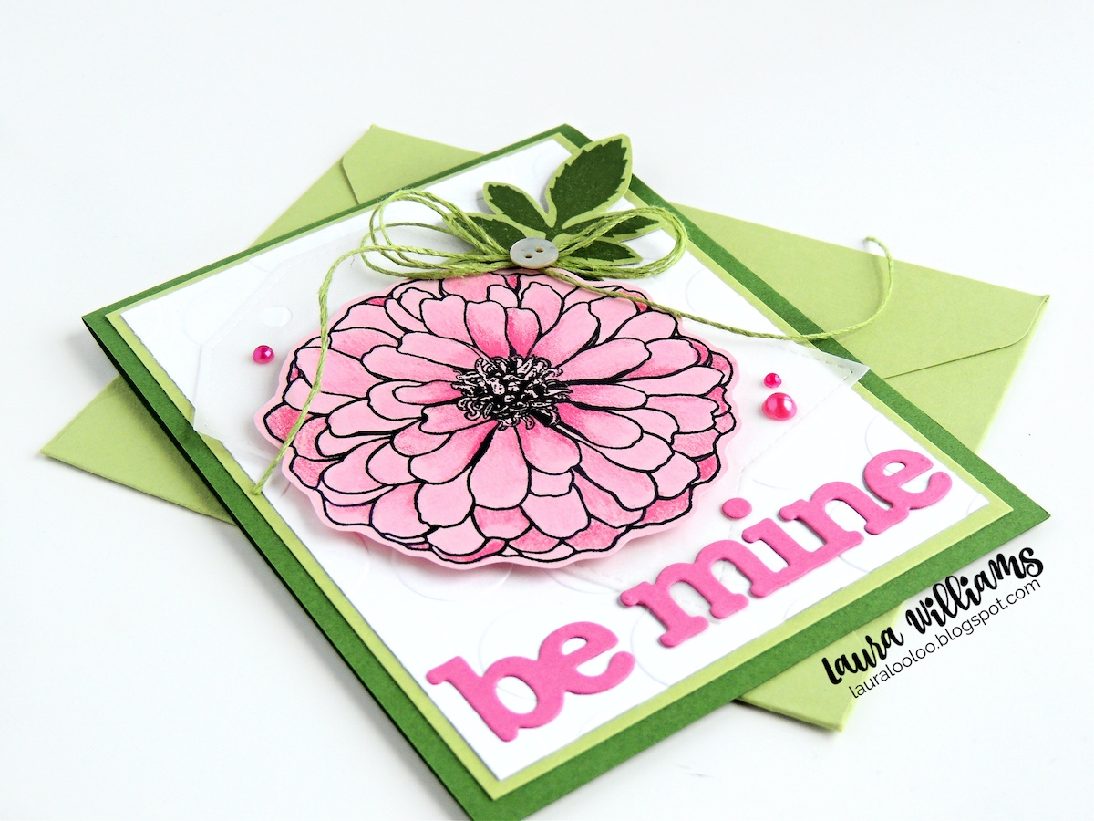 Be Mine Floral handmade Valentine card with Impression Obsession stamps and dies. Visit my blog to see more details about this cardmaking idea and more using rubber stamps and dies.