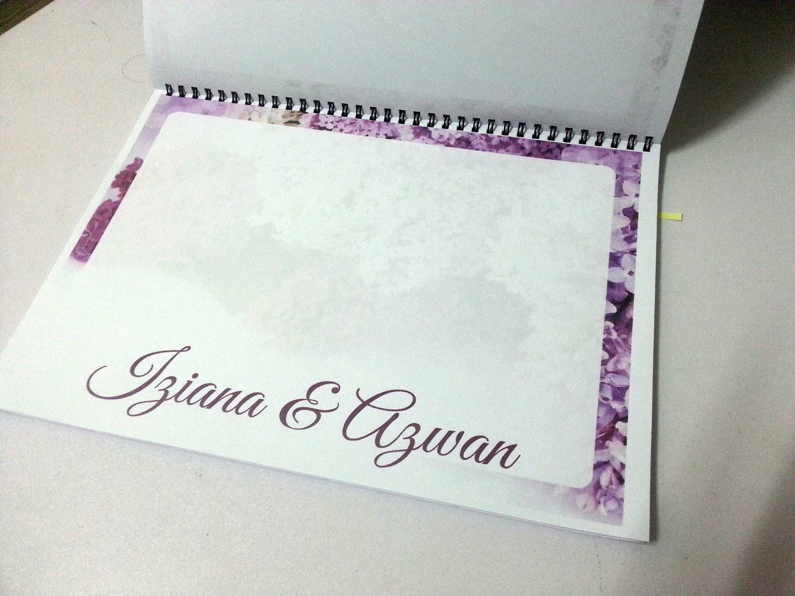 Wedding Guest Book Cover Diy ~ Tentang hidup one stop centre persediaan majlis