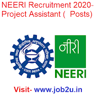 NEERI Recruitment 2020, Project Assistant