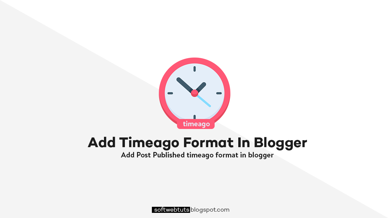 How to add timeago format in blogger