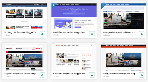 professional blogger templates free and premium download