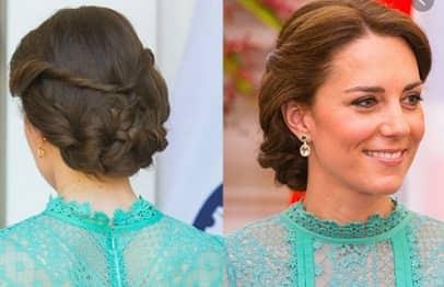 Royal updo hair style