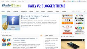 Daily V2 Blogger Theme Responsive - Responsive Blogger Template