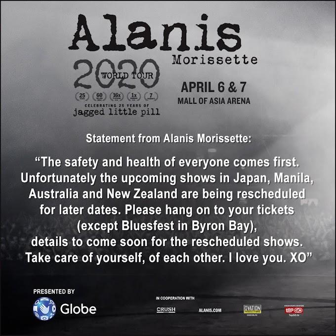 Alanis Morissette Manila Concert- POSTPONED