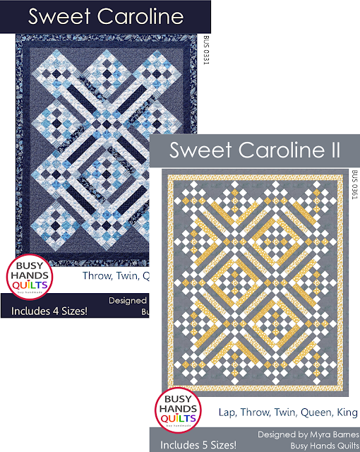 Sweet Caroline Pattern Bundle by Myra Barnes of Busy Hands Quilts