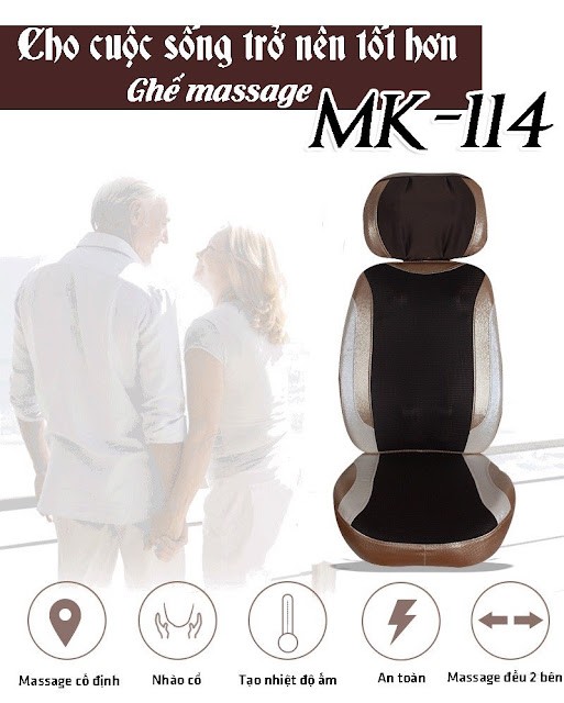 Nệm Massage Xe Hơi Cao Cấp MK114