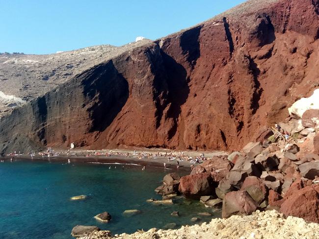 Santorini czerwona plaża