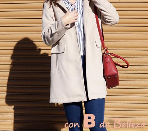 Hooded woolen blend coat