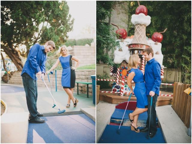 {Engagements} Erin + Matt's Mini Golf Engagement Session