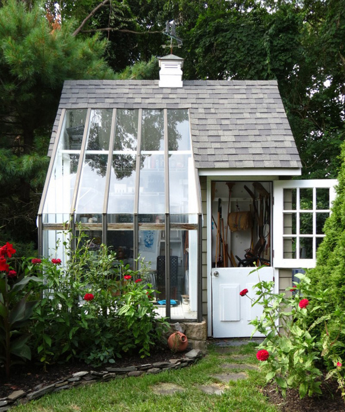 12 backyard sheds you can diy or buy poppytalk for Buy potting shed