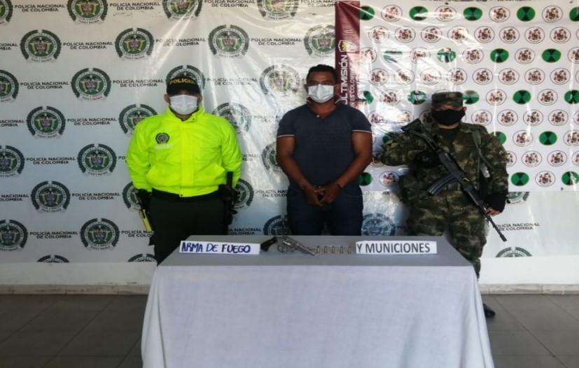 hoyennoticia.com, Capturado venezolano en Valledupar con un revolver calibre 38 especial sin permiso