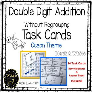 https://www.teacherspayteachers.com/Product/Double-Digit-Addition-Without-Regrouping-Ocean-Math-Center-Task-Cards-3850709