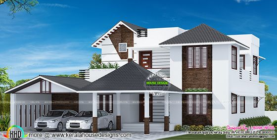 Sloping roof mix house