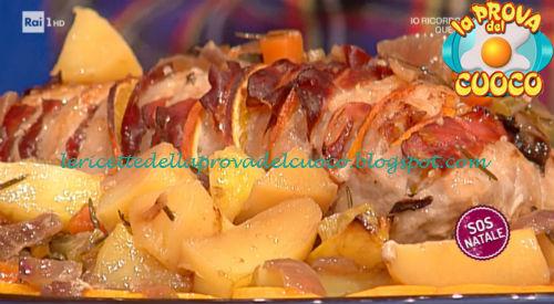 Arista di maiale con arancia e speck ricetta Diego Bongiovanni