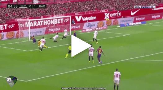 ملخص وأهداف مباراة برشلونة واشبيلية اليوم 2 / 0 الدوري الإسباني