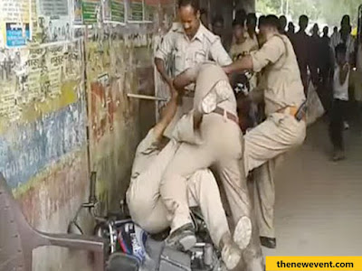 up rajasthan police fight