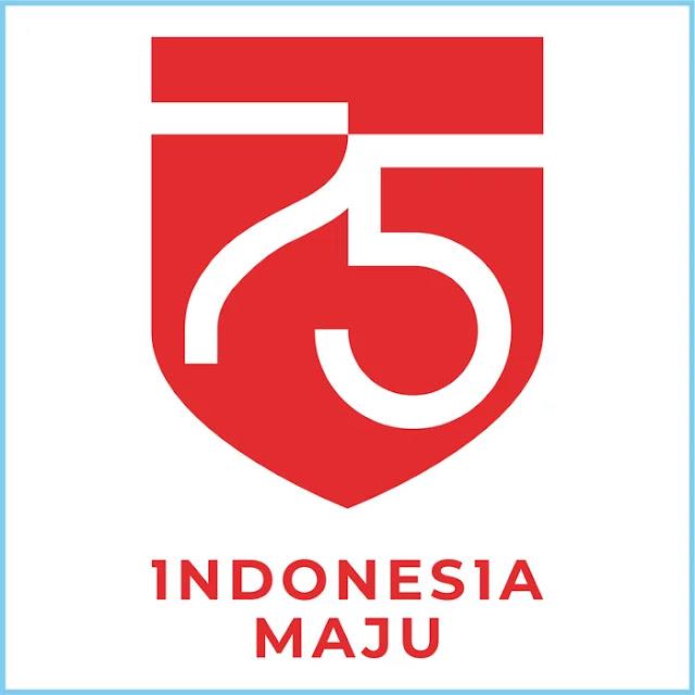 Dirgahayu HUT RI ke-75 Indonesia Maju Tahun 2020 Official Logo - Free Download File Vector CDR AI EPS PDF PNG SVG