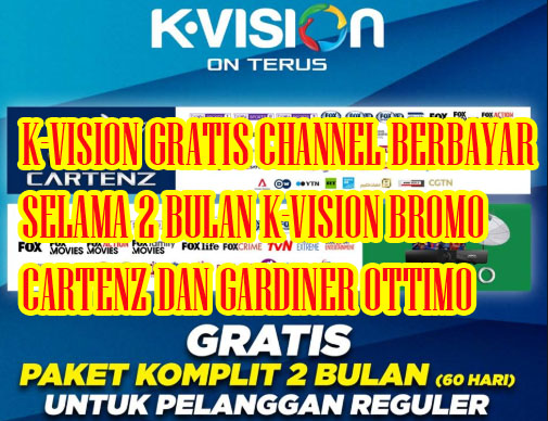 Cara Trik Gratis Channel Berbayar Selama 2 Bulan K Vision Bromo K Vision Cartenz Dan Gardiner 88hd Ottimo 31 Maret 2020 Aulaku