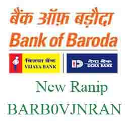Vijaya Baroda New Ranip Branch Ahmedabad New IFSC, MICR